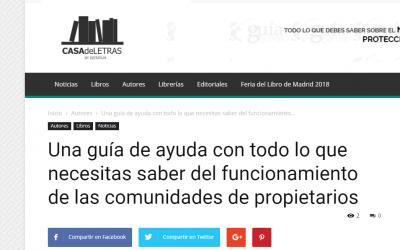 Casa de Letras y el GuíaBurros: Comunidades de vecinos, de Ana Martínez.