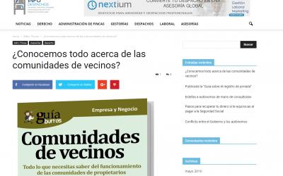 """El """"GuíaBurros: Comunidades de vecinos"""" en InfoDespachos"""